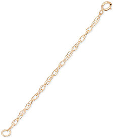 Elsie May Bracelet/Necklace Extender in 18k Gold-Plated Sterling Silver, Created for Macy's
