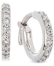 Elsie May Diamond Hoop Earrings (1/6 ct. t.w.) in Sterling Silver