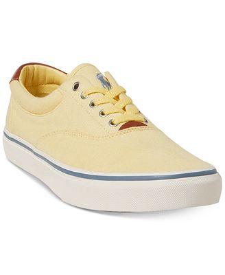 Ralph Lauren Men's Thorton Mesh Low-Top Sneakers Men's Shoes
