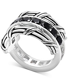 White Topaz (1-9/10 ct. t.w.) & Black Spinel Reversible Ring in Sterling Silver