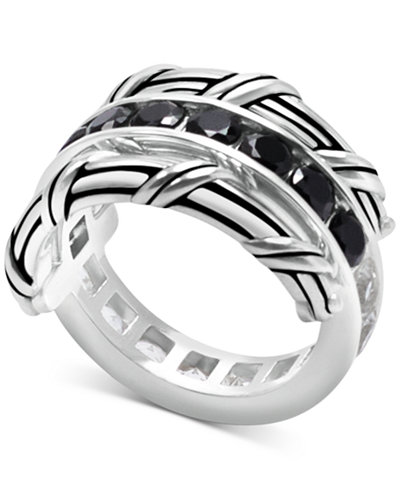Peter Thomas Roth White Topaz (1-9/10 ct. t.w.) & Black Spinel Reversible Ring in Sterling Silver