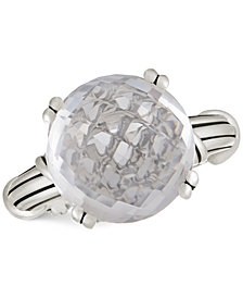 Peter Thomas Roth Rock Crystal Ring in Sterling Silver
