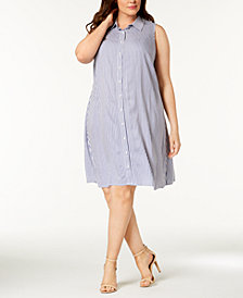MSK Plus Size Embellished Shirtdress