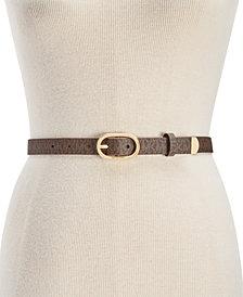 MICHAEL Michael Kors Signature Skinny Belt