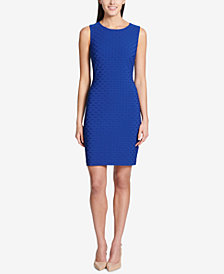 Tommy Hilfiger Basketweave-Knit Sheath Dress