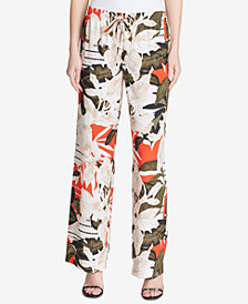 Calvin Klein Wide-Leg Printed Pants