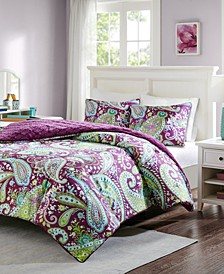 Melissa Reversible 3-Pc. Full/Queen Comforter Set