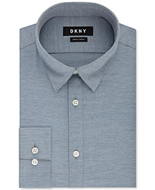 DKNY Men's Slim-Fit Performance Active Stretch Streak Solid Dress Shirt, Created for Macy's