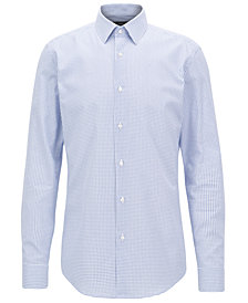 BOSS Men's Slim-Fit Geometric-Print Cotton Shirt