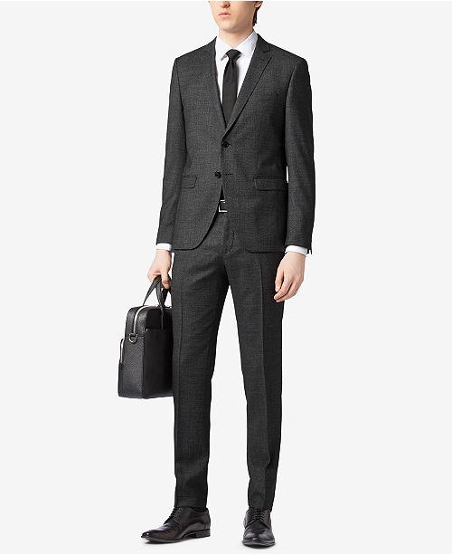 92c0f36a6 Hugo Boss BOSS Men's Extra-Slim-Fit Virgin Wool Suit & Reviews ...