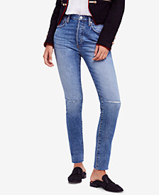 Free People Stella Rip & Repair Skinny Jeans