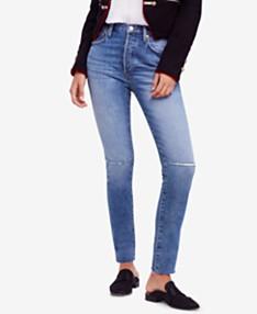 d1e8a6368143 Free People Stella Rip & Repair Skinny Jeans
