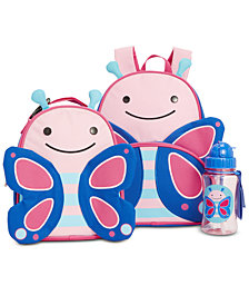 Skip Hop Butterfly Backpack, Lunch Bag & Water Bottle Separates