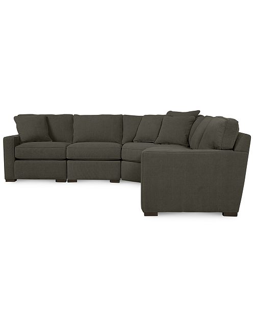 Furniture Radley Fabric 5-Piece Sectional Sofa, Created for Macy\'s ...