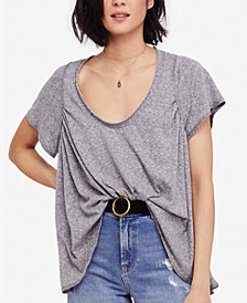 Free People Nori Drapey Scoop-Neck T-Shirt