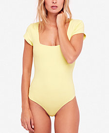 Free People Square Eyes Thong Bodysuit