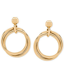 Multi-Ring Doorknocker Earrings in 14k Gold