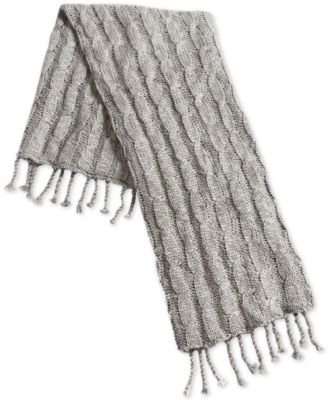 """50"""" x 60"""" Cable-Knit Tassel Throw, Created for Macy's"""