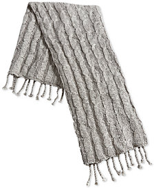 "Oxford Collection 50"" x 60"" Cable-Knit Tassel Throw, Created for Macy's"