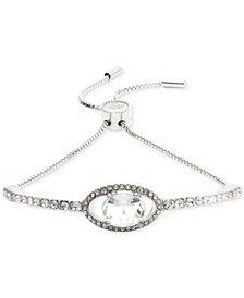 Jenny Packham Silver-Tone Crystal Slider Bracelet