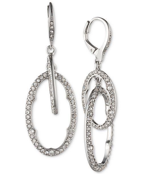 Jenny Packham Silver-Tone Pavé Orbital Drop Earrings