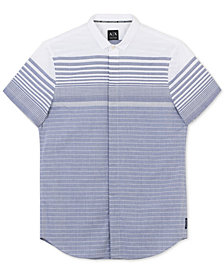 A|X Armani Exchange Men's Slim-Fit Striped Shirt