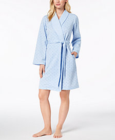 Charter Club Short Sweatshirt Robe, Created for Macy's