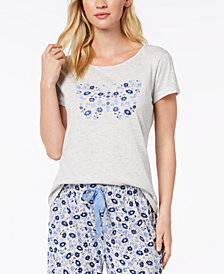 Charter Club Graphic Pajama Top, Created for Macy's