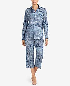 Lauren Ralph Lauren Classic Wovens Paisley-Print Capri Pajama Set