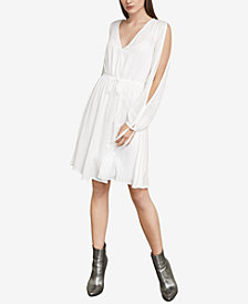 BCBGMAXAZRIA Cooper Slashed Bishop-Sleeve Dress