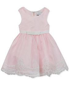 Rare Editions Baby Girls Lace-Hem Organza Dress