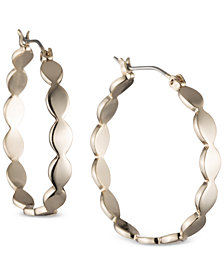 Ivanka Trump Gold-Tone Wavy Hoop Earrings