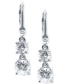 Ivanka Trump Cubic Zirconia Two-Stone Drop Earrings