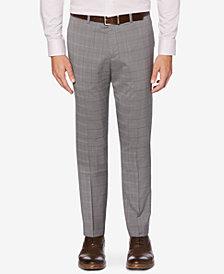 Perry Ellis Portfolio Men's Slim-Fit Stretch Large Plaid Dress Pants