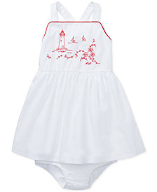 Polo Ralph Lauren Baby Girls Cotton Embroidered Lighthouse Dress