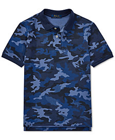 Polo Ralph Lauren Big Boys Camo Cotton Mesh Polo