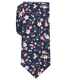 Bar III Men's Raima Floral Tie, Created for Macy's
