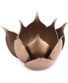 Zuo Lotus Gold-Tone Candle Holder