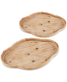 Madison Park 2-Pc. Quatrefoil Wood Tray Set