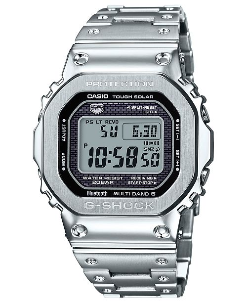 G Shock Men S Digital Stainless Steel Bracelet Watch 42 8mm