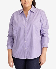 Plus Size Long Sleeve Non-Iron Shirt