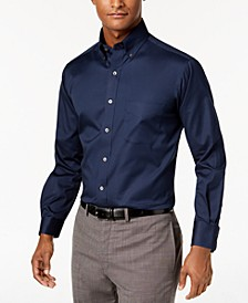Men's Big & Tall Classic/Regular Fit Stretch Easy-Care Solid Dress Shirt, Created for Macy's