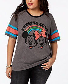 Mad Engine Plus Size Mickey & Minnie Mouse T-Shirt