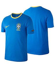 Nike Men's Brazil National Team Ringer Crest T-Shirt