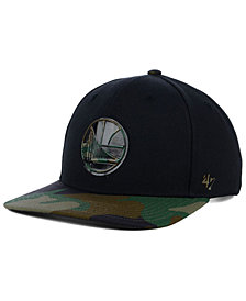 '47 Brand Golden State Warriors Caster Camo MVP Cap