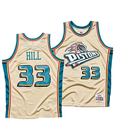Mitchell & Ness Men's Grant Hill Detroit Pistons Gold Collection Swingman Jersey