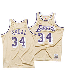 Mitchell & Ness Men's Shaquille O'Neal Los Angeles Lakers Gold Collection Swingman Jersey
