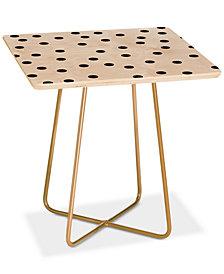 Deny Designs Garima Dhawan Vintage Dots Black Side Table