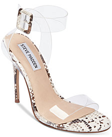 Steve Madden Women's Seeme Lucite Dress Sandals