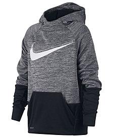 Nike Big Boys Therma Logo-Print Training Hoodie